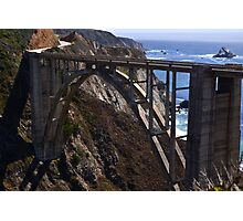 Bixby Bridge - Ocean View Photographic Print