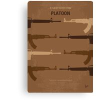 No115 My Platoon minimal movie poster Canvas Print