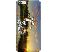 Calvin & Hobbes In The Pond iPhone Case/Skin