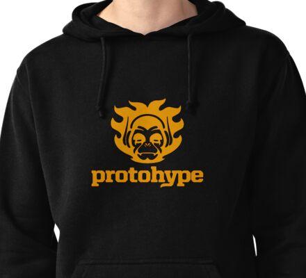 Protohype Logo - Orange Pullover Hoodie