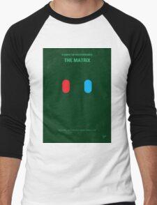 No117 My MATRIX minimal movie poster Men's Baseball ¾ T-Shirt