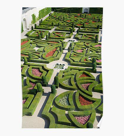The  love garden, Chateau Villandry, Loire Valley Poster