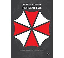 No119 My RESIDENT EVIL minimal movie poster Photographic Print
