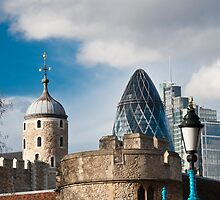 The Tower of London & Gherkin: City Views by DonDavisUK