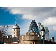 The Tower of London & Gherkin: City Views Photographic Print