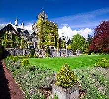 Hatley Castle Courtyard by Don Guindon