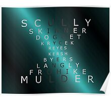 x-files - The Characters - Blue Poster