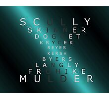 x-files - The Characters - Blue Photographic Print