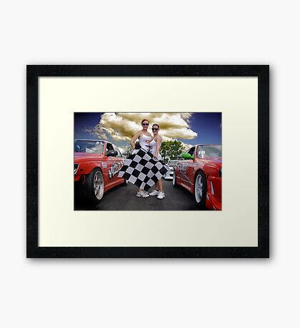 Oh Yes The Checkered Flag Framed Print