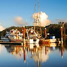 Fishing Boats on the Siuslaw River by Jennifer Hulbert-Hortman