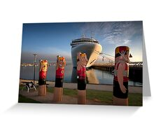 Bollards and Silver Spirit - Geelong Greeting Card