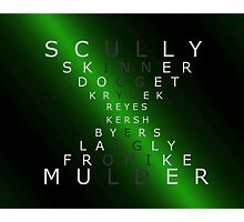 x-files - The Characters - Green Photographic Print