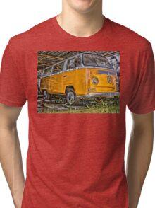HDR Orange Volkswagen mini van Tri-blend T-Shirt