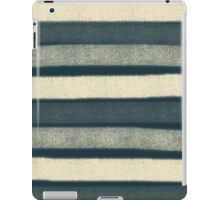 Chalk stripes, cream and navy iPad Case/Skin