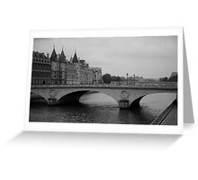 cityscapes #187, seine abridged Greeting Card