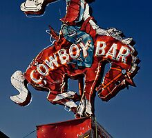 Million Dollar Cowboy Bar Sign by Alex Preiss