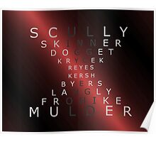x-files - The Characters - Red Poster