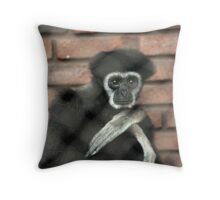 Behind the chain link Throw Pillow