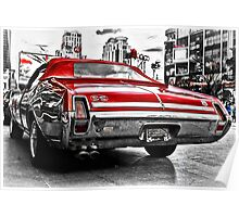 Oldsmobile vintage American muscle car Poster