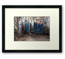 decaying bathroom Framed Print