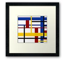 A Mondrian Mood Framed Print