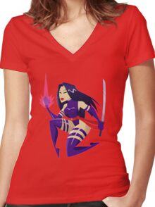 PSYLOCKE Women's Fitted V-Neck T-Shirt