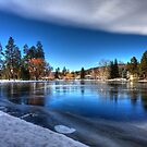 ICE OVER MIRROR POND by Joe Powell