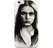Cara, charcoal sketch iPhone Case/Skin