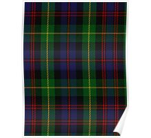 00539 Black Watch Plaid of Pipers Military Tartan  Poster