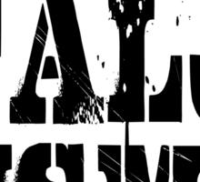 CapitalJism - Everyone Swallows It - black Sticker