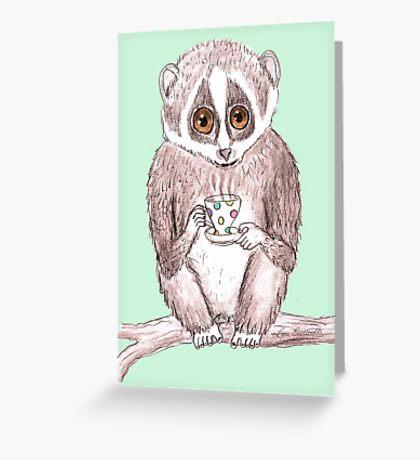Slow down Loris! Greeting Card