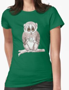 Slow down Loris! Womens Fitted T-Shirt