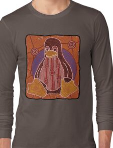 Tux (Solid background) Long Sleeve T-Shirt
