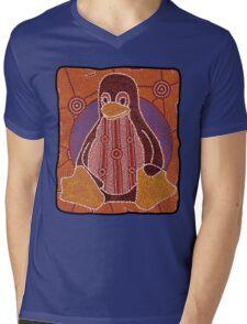 Tux (Solid background) Mens V-Neck T-Shirt