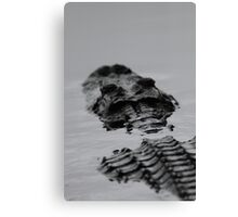 Prehistoric / Alligator Abstract Canvas Print