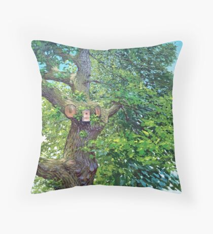 Home tree Throw Pillow