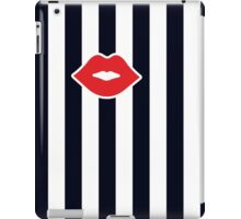 Red Lips with Stripes iPad Case/Skin