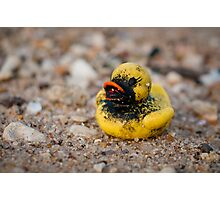 Lonesome Rubber ducky Photographic Print