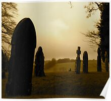 The graveyard in Exford Poster