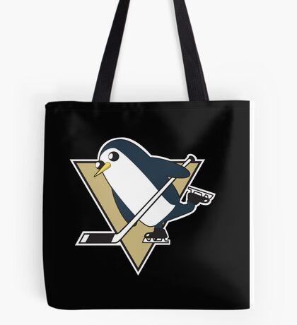 Pittsburgh Penguins x Gunther Mashup - Gunther Playing Hockey Logo Mixup Tote Bag