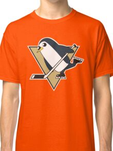 Pittsburgh Penguins x Gunther Mashup - Gunther Playing Hockey Logo Mixup Classic T-Shirt