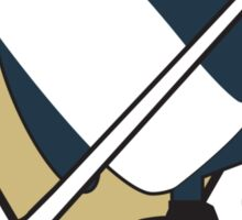Pittsburgh Penguins x Gunther Mashup - Gunther Playing Hockey Logo Mixup Sticker