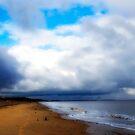 View along Dunwich Beach. by Karen  Betts