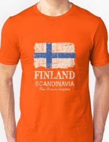 Finland Flag - Vintage Look T-Shirt