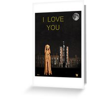 The Scream World Tour St James's Palace I Love You Greeting Card