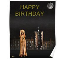 The Scream World Tour St James's Palace Happy Birthday Poster