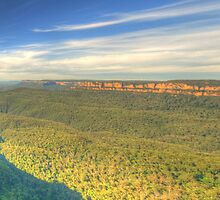 A Wide View - Three Sisters & Jamison Valley - Blue Mountains World Heritage Area, Sydney Australia - The HDR Experience by Philip Johnson