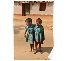 Indian children in Rajasthan Poster