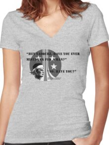 Pvt. Vasquez quote Women's Fitted V-Neck T-Shirt