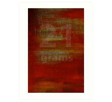 21 Grams Art Print